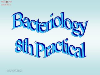 Bacteriology 8th Practical