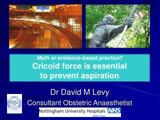 Dr David M Levy Consultant Obstetric Anaesthetist