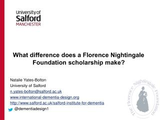 What difference does a Florence Nightingale Foundation scholarship make?
