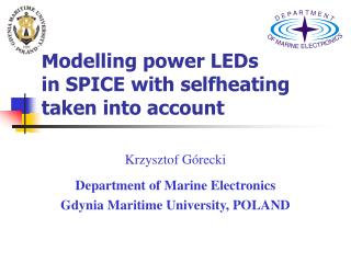 Modelling power LEDs  in SPICE with selfheating taken into account