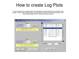 How to create Log Plots