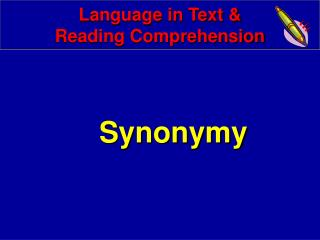 Language in Text & Reading Comprehension