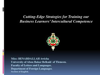 Cutting-Edge Strategies for Training our Business Learners' Intercultural Competence