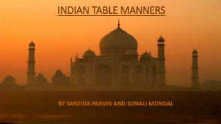 INDIAN TABLE MANNERS