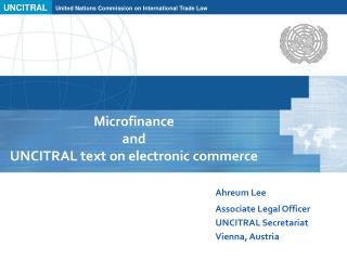 Microfinance  and  UNCITRAL text on electronic commerce