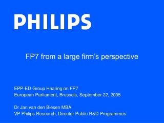 FP7 from a large firm's perspective