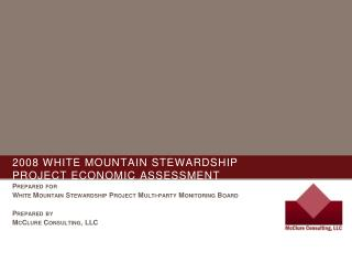 2008 White mountain stewardship  project economic assessment