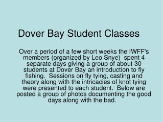 Dover Bay Student Classes