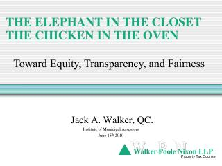 THE ELEPHANT IN THE CLOSET THE CHICKEN IN THE OVEN