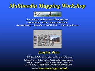 Multimedia Mapping Workshop