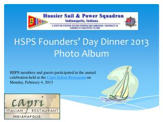 HSPS Founders' Day Dinner 2013 Photo Album