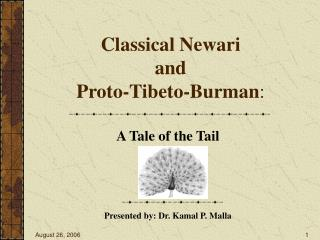 Classical Newari and Proto-Tibeto-Burman :