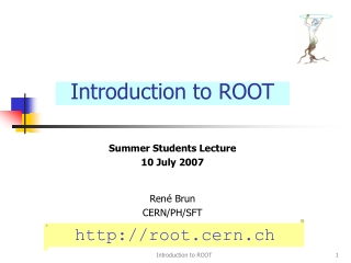 Introduction to ROOT