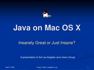 Java on Mac OS X