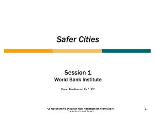 Safer Cities