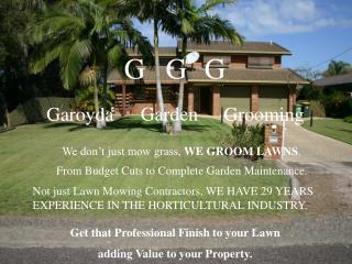 Get that Professional Finish to your Lawn adding Value to your Property.
