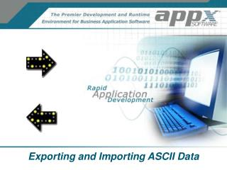 Exporting and Importing ASCII Data