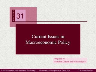 Current Issues in Macroeconomic Policy