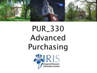 PUR_330 Advanced Purchasing