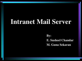 Intranet Mail Server