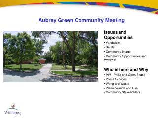 Aubrey Green Community Meeting