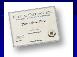 MOS Certification (Microsoft Office Specialist)