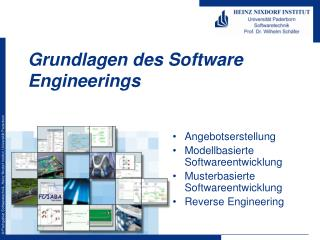 Grundlagen des Software Engineerings