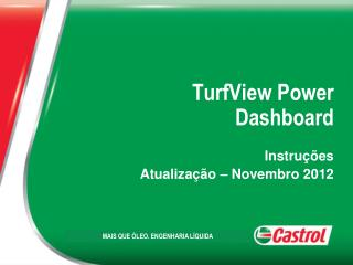 TurfView Power  Dashboard