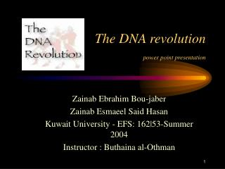 The DNA revolution power point presentation