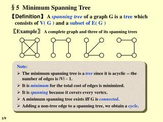 §5  Minimum Spanning Tree