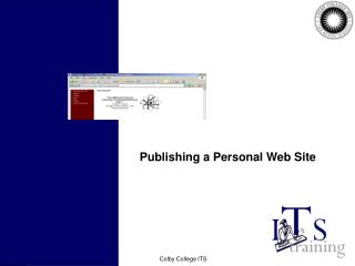 Publishing a Personal Web Site