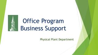 Office Program  Business Support
