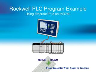 Rockwell PLC Program Example Using  Ethernet/IP to an IND780