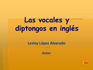 Las vocales y diptongos en inglés