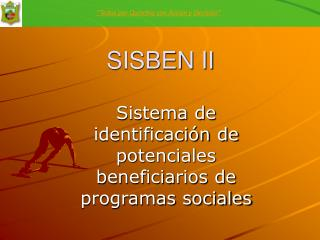 SISBEN II