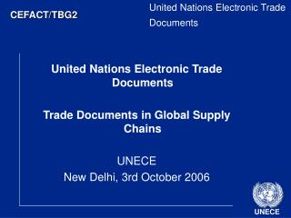 United Nations Electronic Trade Documents
