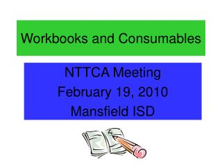 Workbooks and Consumables