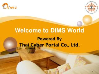 Welcome to DIMS World Powered By Thai Cyber Portal Co., Ltd.