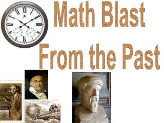Math Blast From the Past
