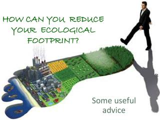 HOW CAN YOU  REDUCE YOUR  ECOLOGICAL FOOTPRINT?