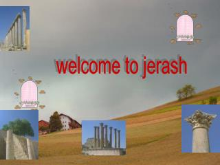 welcome to jerash