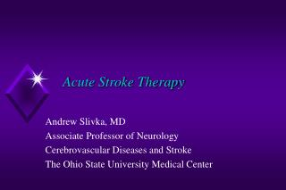 Acute Stroke Therapy