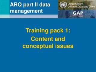 ARQ part II data  management