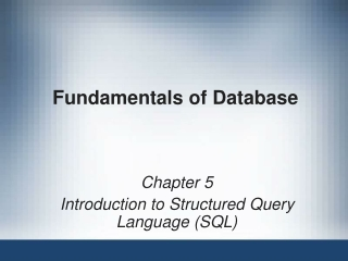 Introduction to Structured Query Language SQL