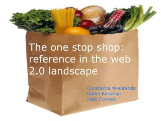 The one stop shop:  reference in the web 2.0 landscape