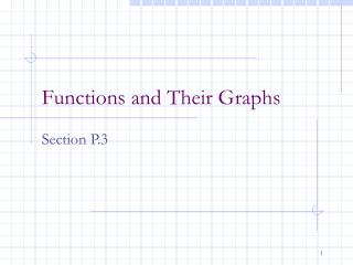 Functions and Their Graphs