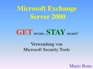 Microsoft Exchange  Server 2000
