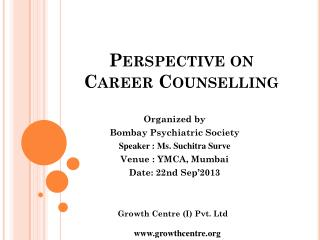 Perspective on  Career Counselling