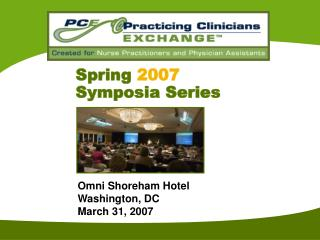 Spring 2007 Symposia Series