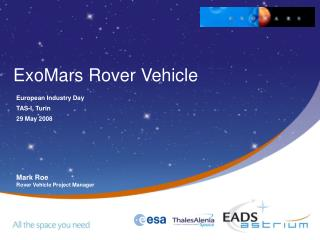 ExoMars Rover Vehicle